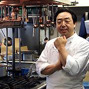 Tatsuo Kobayashi, the new Executive Chef for the FCCJ. Tuesday, September 11, 2012.  (Albert Siegel)