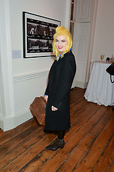 PAM HOGG at a private view of Chris Stein/Negative: Me, Blondie And The Advent Of Punk, held at Somerset House, The Strand, London on 5th November 2014.