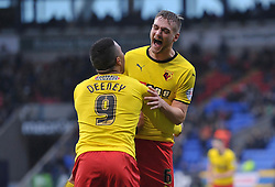 Watford's Joel Ekstrand celebrates scoring his team's third goal - Photo mandatory by-line: Richard Martin-Roberts/JMP - Mobile: 07966 386802 - 14/02/2014 - SPORT - Football - Bolton - Macron Stadium - Bolton Wanderers v Watford - Sky Bet Championship