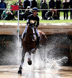 Tahina Des Isles ridden by Camille Lejeune on the Cross Country during day four of the 2019 Mitsubishi Motors Badminton Horse Trials at The Badminton Estate, Gloucestershire. PRESS ASSOCIATION Photo. Picture date: Saturday May 4, 2019. See PA story EQUESTRIAN Badminton. Photo credit should read: David Davies/PA Wire