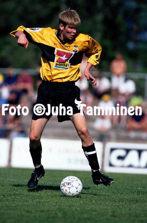 27.06.1999, Pori, Finland. .Veikkausliiga / Finnish National Championship, FC  FC Jazz Pori v Myllykosken Pallo-47. .Tuomas Aho - MyPa.©JUHA TAMMINEN