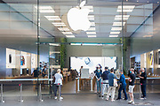 Sydney, Australia. Thursday 7th May 2020. The Apple Store at Bondi Junction in Sydney's eastern suburbs opens as well as all the other Apple stores across Australia as the coronavirus lockdown restrictions ease. Apple has added additional safety procedures including temperature checks and social distancing. Credit Paul Lovelace/Alamy Live News