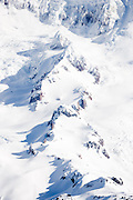 Puyallup Glacier and Sunset Ampitheater on Mount Rainier, Washington,USA
