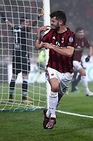 Milan-Lazio - Serie A 22a giornata - Nella foto : Patrick Cutrone esulta dopo il gol   - Milan