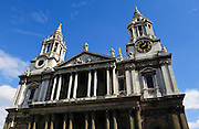 St Paul's Cathedral, designed by architect Sir Christopher Wren, London, United Kingdom