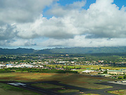 Aerial view of LIhue Airport (LIH), Lihue, Kauai, Hawaii.