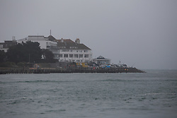 UK ENGLAND POOLE 22FEB19 - The Haven Hotel on Sandbanks on the Dorest coast in foggy weather. <br /> <br /> <br /> <br /> Photo by Jiri Rezac / Greenpeace<br /> <br /> <br /> <br /> © Jiri Rezac 2019
