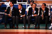 Europei Grecia 1995<br /> Ettore Messina, piccin, claudio silvestri, renato pasquali