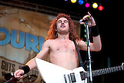 Airbourne at Uproar Festival at the Lifestyles Community Pavilion in Columbus, OH on August 24, 2010