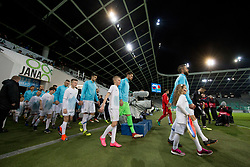 Players incoming to pitch before friendly football match between National teams of Slovenia and Belarus, on March 27, 2018 in SRC Stozice, Ljubljana, Slovenia. Photo by Urban Urbanc / Sportida