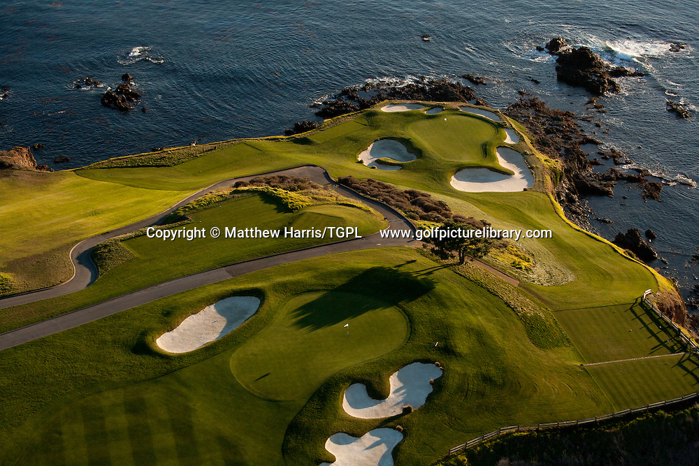 Pebble Beach Golf  Links venue for the 2010 US Open Championships,Pebble Beach,California,USA.6th green and 7th