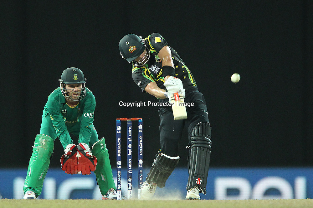 Cameron White during the ICC World Twenty20 Super 8s match between Australia and South Africa held at the Premadasa Stadium in Colombo, Sri Lanka on the 30th September 2012<br /> <br /> Photo by Ron Gaunt/SPORTZPICS