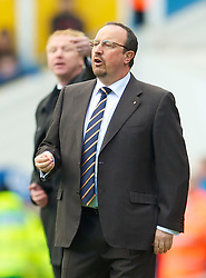 BIRMINGHAM, ENGLAND - Sunday, April 4, 2010: Liverpool's manager Rafael Benitez and Birmingham City's manager Alex McLeish during the Premiership match at St Andrews. (Photo by David Rawcliffe/Propaganda)