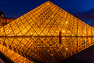 France-Paris-Louvre Museum & Pyramid