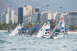 2.4mR Flotilla on Start Line, Sailing, Voile à Rio 2016 Paralympic Games, Brazil