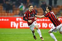 Milano - 10.12.2017 -   Milan-Bologna - Serie A 16a giornata   - nella foto:  Giacomo Bonaventura esulta dopo il gol