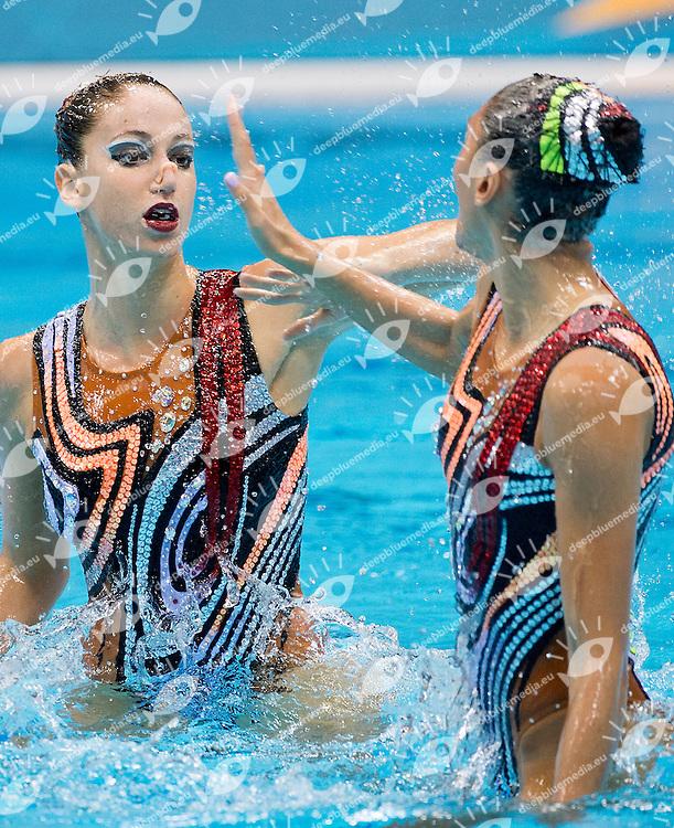 Platanioti - Solomou Greece.Synchronized Swimming duet Final .London 2012 Olympics - Olimpiadi Londra 2012.day 12 Aug.7.Photo G.Scala/Deepbluemedia.eu/Insidefoto