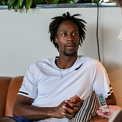 17.06.2015, Gerry Weber Open, Halle, GER, Gael Monfils im Portrait, im Bild Gael Monfils (FRA) bei einem Interview und Fototermin // Tennis Player Gael Monfils of France during a Interview and Photoshooting at the Gerry Weber Open in Halle, Germany on 2015/06/17. EXPA Pictures © 2016, PhotoCredit: EXPA/ Eibner-Pressefoto/ Horn<br /> <br /> *****ATTENTION - OUT of GER*****