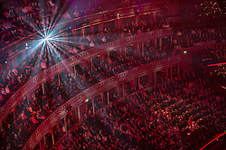 © London News Pictures. Pictured: Spectators  and audience within The Royal Albert Hall, London during the Festival of Remembrance on Saturday 7th November 2015.<br /> . Photo credit: Rupert Frere/LNP