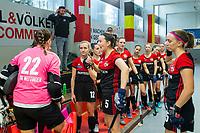 HAMBURG  (Ger) - Rotweiss Wettingen (Sui)  v  MHC Laren (Ned).  foto: team Wettingen.    , Eurohockey Indoor  Club Cup 2019 Women . WORLDSPORTPICS COPYRIGHT  KOEN SUYK