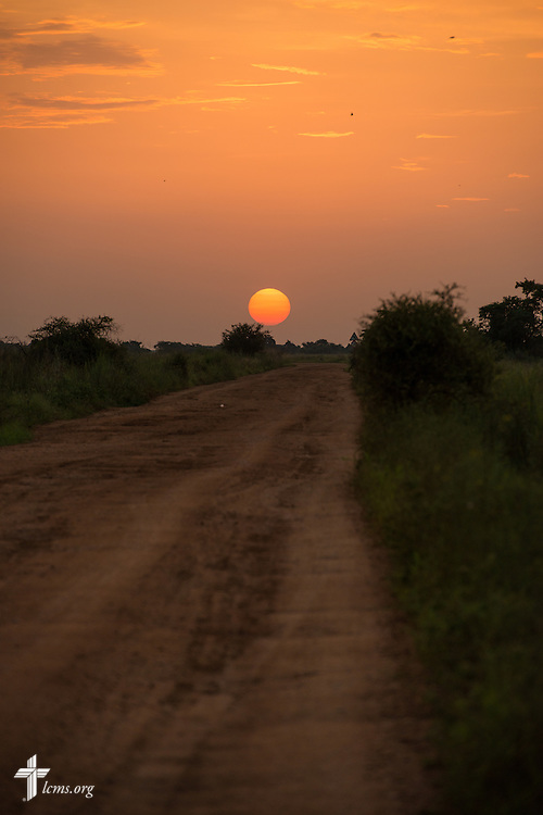 The sun sets Wednesday, Sept. 23, 2015, outside the Leitchour Refugee Camp outside Gambela, Ethiopia. LCMS Communications/Erik M. Lunsford