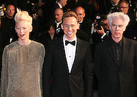 Tilda Swinton, Tom Hiddleston and Jim Jarmusch at Only Lovers Left Alive gala screening at the Cannes Film Festival Saturday 26th May May 2013