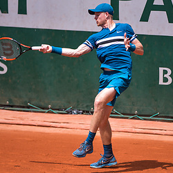 Kyle Edmund of Great Britain during Day 5 for the French Open 2018 on May 31, 2018 in Paris, France. (Photo by Baptiste Fernandez/Icon Sport)