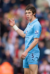 STOKE, ENGLAND - Sunday, October 19, 2008: Tottenham Hotspur's Gareth Bale is sent off during the Premiership match against Stoke City at the Britannia Stadium. (Photo by David Rawcliffe/Propaganda)
