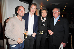 Left to right, HUGO CHITTENDEN, the HON.FRANCOIS O'NEILL and LORD & LADY RATHCAVAN at a screening of the short film 'The Volunteer' held at the Courthouse Hilton Hotel, 19-21 Great Marlborough Street, London W1 on 26th October 2009.