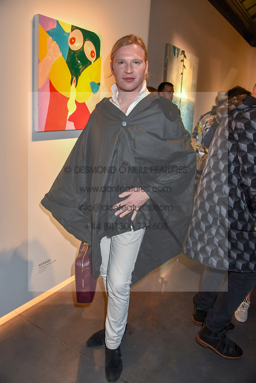 Henry Conway at a VIP private view of 21st Century Women held at Unit London, Hanover Square, London England. 03 October 2018.