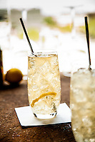 The Rodeo Highball: 2oz Pendleton's Canadian Whiskey, 1 twist of lemon, <br /> about 4oz ginger beer.<br /> Procedure: pour whiskey into a Collins glass. Twist lemon peel over the top and place in glass. Fill glass with crushed ice and top with ginger beer. Stir briefly and serve. Photography by St. Louis Beverage Photographer Jonathan Gayman.