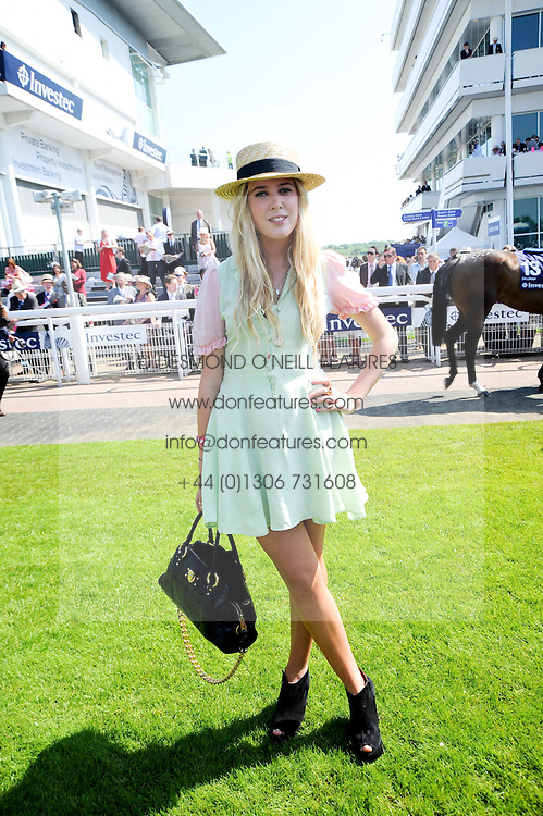 GRACIE JONES at the Investec Ladies Day at Epsom Racecourse, Surrey on 4th June 2010.