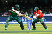Imam-ul-Haq of Pakistan plays an attacking shot during the ICC Cricket World Cup 2019 match between Pakistan and Bangladesh at Lord's Cricket Ground, St John's Wood, United Kingdom on 5 July 2019.