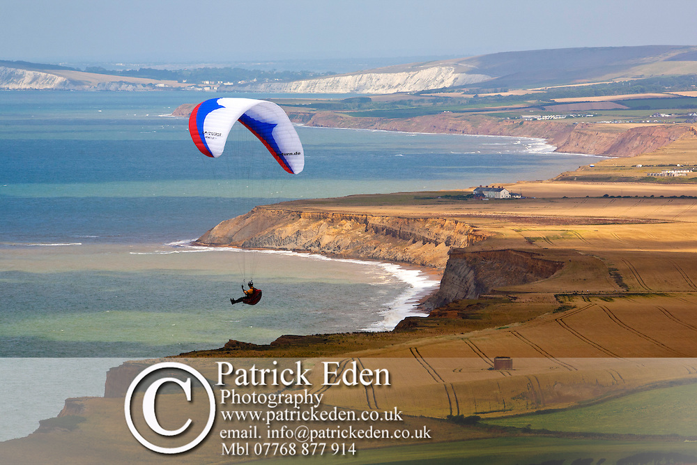 Para Glider, Paraglider, Blackgang, Chale, Atherfield, Coastguard Cottages, Military Road, Isle of Wight, England, UK photography photograph canvas canvases