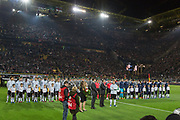 Lukas Podolski of Germany receives speaks to the fans during the International Friendly match between Germany and England at Signal Iduna Park, Dortmund, Germany on 22 March 2017. Photo by Phil Duncan.