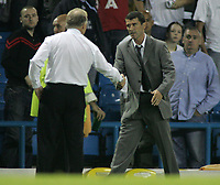Photo: Paul Thomas.<br /> Leeds United v Sunderland. Coca Cola Championship. 13/09/2006.<br /> <br /> Both managers shake hands after the match, Kevin Blackwell (L) and Roy Keane.