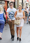 21.APRIL.2011. ESSEX<br /> <br /> SAM FAIERS TAKES A STROLL ROUND THE SHOPS IN BRENTWOOD, ESSEX WITH A MYSTERY GUY.<br /> <br /> BYLINE: EDBIMAGEARCHIVE.COM<br /> <br /> *THIS IMAGE IS STRICTLY FOR UK NEWSPAPERS AND MAGAZINES ONLY*<br /> *FOR WORLD WIDE SALES AND WEB USE PLEASE CONTACT EDBIMAGEARCHIVE - 0208 954 5968*