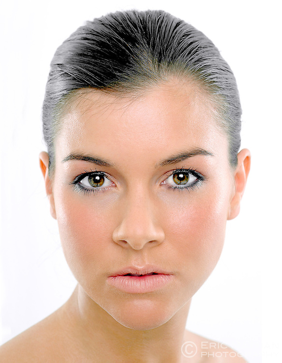 Studio portrait of Imogen Thomas, (Miss Wales 2003).