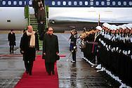 Roma 12 Gennaio 1987.Bettino Craxi Presidente del Consiglio  in occasione dell'incontro con il Presidente della Polonia  Generale  Wojciech Witold Jaruzelski all'arrivo  all' aereoporto di Ciampino.