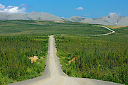 Dempster Highway and the Richardson Mountains  (KM 347 - 405) south of the Arctic Circle<br />