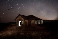 Vintage School House, Nature Photography, Landscape Photography, Farmland Photographs, Old Building Images, Night photograph of an old school house.