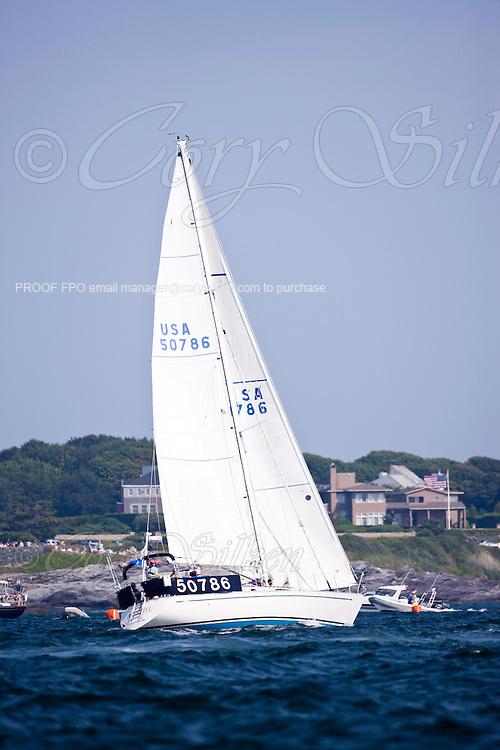 Bonspiel, class 12, sailing at the start of the Newport Bermuda Race 2010. The race began in Newport, Rhode Island on June 18, 2010.
