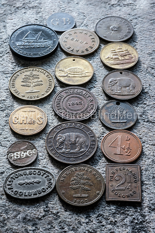 Coffee and Tea tokens.<br />