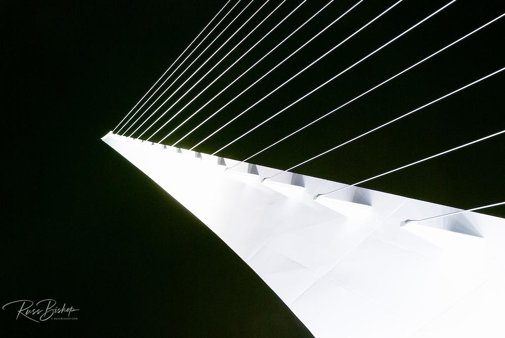 Detail of the Sundial Bridge at Turtle Bay, Redding, California