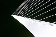 Detail of the Sundial Bridge at Turtle Bay, Redding, California
