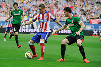 Atletico de Madrid´s Fernando Torres and Athletic Club´s Aymeric Laporte during 2014-15 La Liga match between Atletico de Madrid and Athletic Club at Vicente Calderon stadium in Madrid, Spain. May 02, 2015. (ALTERPHOTOS/Luis Fernandez)