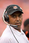 KANSAS CITY, MO - SEPTEMBER 10:  Head Coach Marvin Lewis of the Cincinnati Bengals during a game against the Kansas City Chiefs on September 10, 2006 at Arrowhead Stadium in Kansas City, Missouri.  The Bengals won 23 to 10.  (Photo by Wesley Hitt/Getty Images)***Local Caption***Marvin Lewis