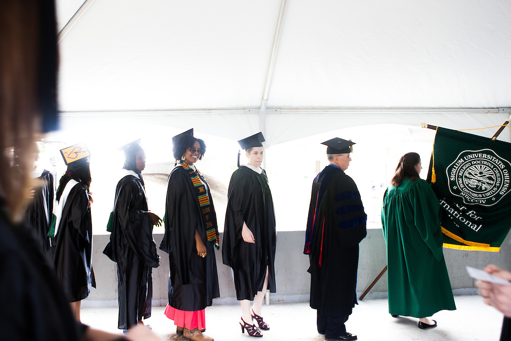 Ohio University Commencement ceremony for Doctorate, Masters and Masters of Fine Arts May 2, 2014. Photo by Claire Harbage / Ohio University