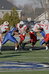 25 November 2006: Pierre Rembert works the middle of the Panthers line.&#xD;The Redbirds romped the Panthers by a score of 24-13.&#xD;This game was a 1st round NCAA Division 1 Playoff held at O'Brien Stadium on the campus of Eastern Illinois University in Charleston Illinois.<br />