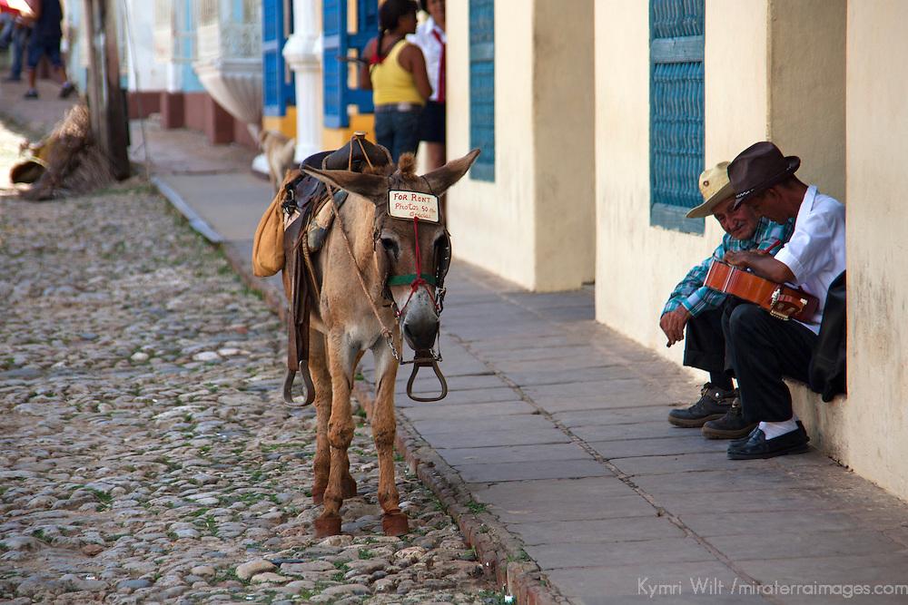 Central America, Cuba, Trinidad. Scene on the streets of Trinidad.
